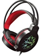 Snopy Sn-Gx7 Siyah Usb Ledli Mikrofonlu Oyuncu Kulaklığı Renkli
